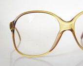 Vintage YELLOW 1980s Eyeglasses Glasses 80s Sunglasses Ladies BOHO Bohemian Chic Womens SUNSHINE Hipster