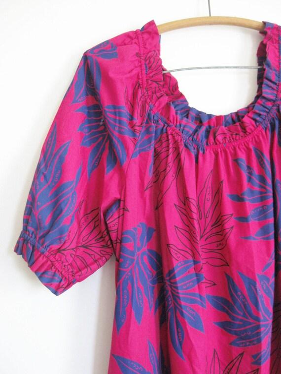 Sale Vintage Boho Plus Size Hawaiian Dress Gown Moo Moo Xl Xxl