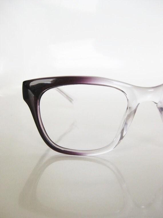 Vintage MAD MEN Plum Fade Glasses Eyeglasses Sunglasses Purple Womens 1960s Horn Rim INDIE