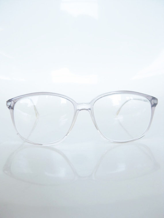 Vintage 1970s Glasses / Light Gray HORNRIM 70s / Mens INDIE Classic Mad Men MODERN