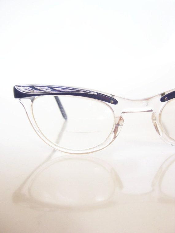 Vintage 1950s Eyeglasses // 50s Glasses SHURON // CATEYE Cat Eye ROCKABILLY Indie Hipster Womens Ladies