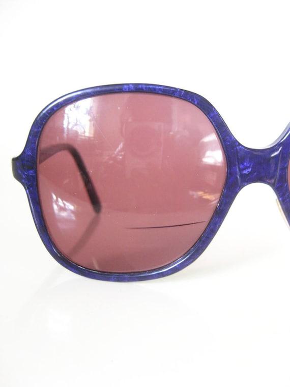 Vintage 1970s LIBERTY Glasses // 70s Eyeglasses Womens // PURPLE Oversized Optical Frames INDIE Hipster Geek Chic