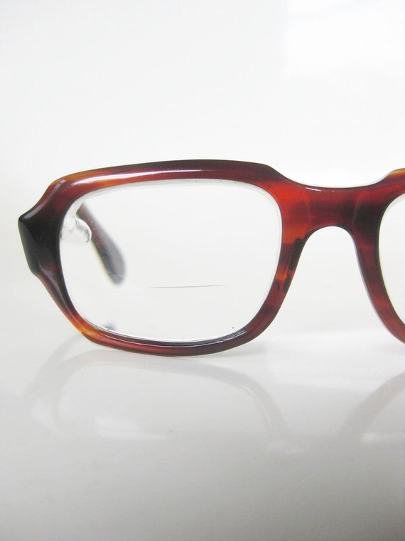 Vintage 1960s MENS Glasses Eyeglasses Horn Rim CHUNKY Tortoiseshell Guys Homme 60s Mad Men