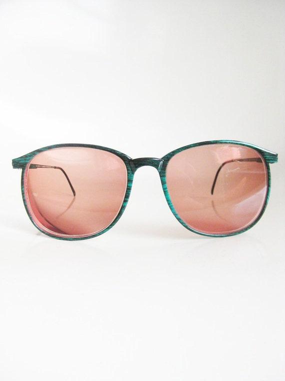 Vintage EMERALD Green Horn Rim Eyeglasses Glasses MARCHON