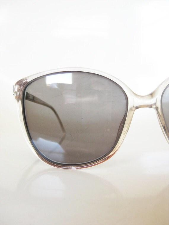 Vintage Unisex WAYFARER 1970s Sunglasses Charcoal Grey Ladies Guys INDIE Classic Chic 70s Seventies