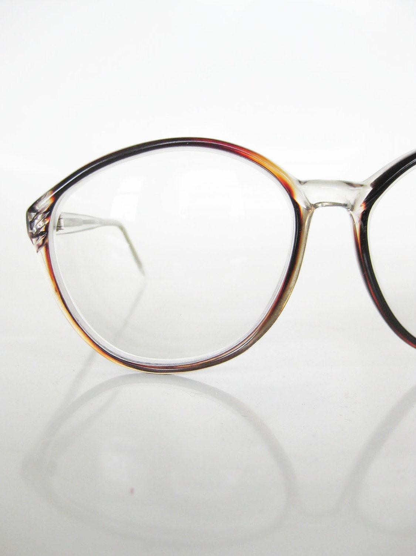 Vintage OVERSIZED Cat Eye Womens Glasses Eyeglasses Optical