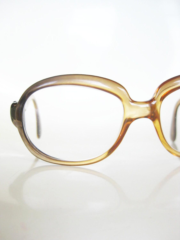 Vintage 1970s OVERSIZED Eyeglasses Glasses 70s by ...