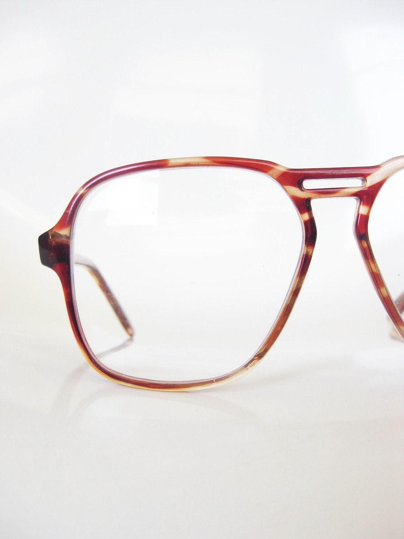 Aviator Eyeglasses Frame : VIntage 1980s AVIATOR Eyeglasses MENS Glasses Optical Frames