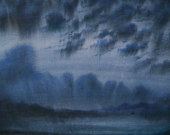 Free Shipping - Sea Dancers Of The Night (Original Watercolor Painting)