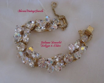 Juliana Bracelet DeLizza and Elster BOOK PIECE  Glitzy   Crystal  Beads
