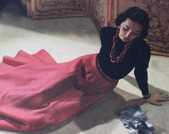 Betty McLauchlen Super Model  Vogue 1943  Ad  for Models Special Makeup