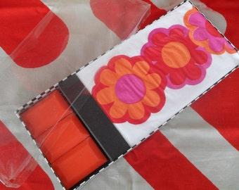 Vintage Mod Paper Guest Towel and Orange Soap Set Mint in Box