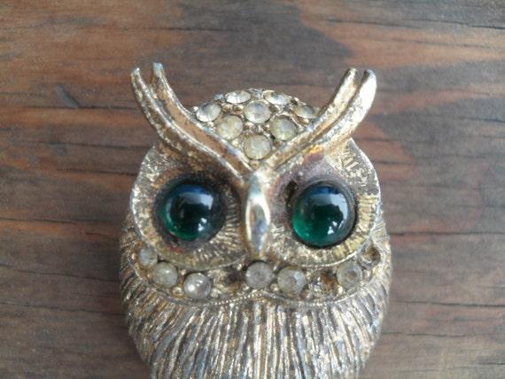 Vintage Rustic Owl Pin