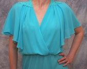 Reserved for AdelynnTan - turquoise disco dress