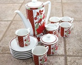 SUPER GROOVY SALE - 13 piece small tea or coffee set