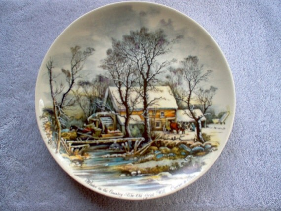 Currier Amp Ives Collector Plate Winter In The Country