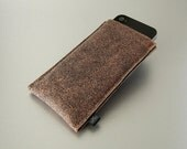 iPhone leather case SKIN for your iPhone felt case with genuine antique looking leather and felt