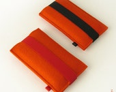 iPhone felt sleeve orange