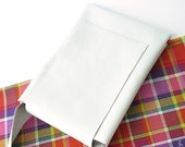 WHITE leather bag for your iPad and iPhone