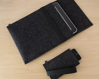 iPad Air sleeve iPhone felt sleeve felt set for iPad and iPhone