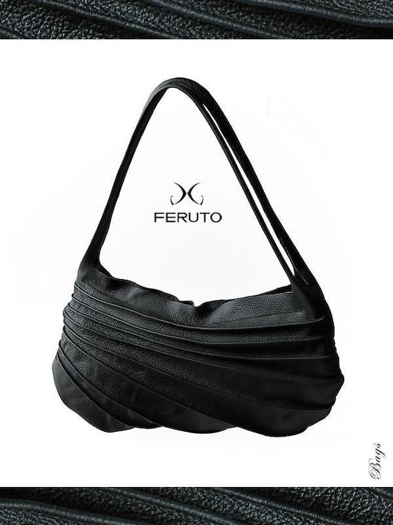 leather purse bag BLACK DUNE leather bag purse