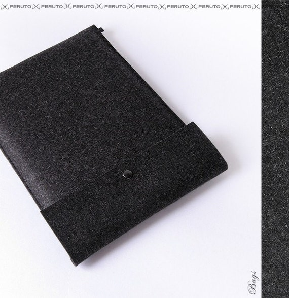 15 Macbook Pro felt case GRAPHITE german felt sleeve 13 15 inch Macbook Pro case