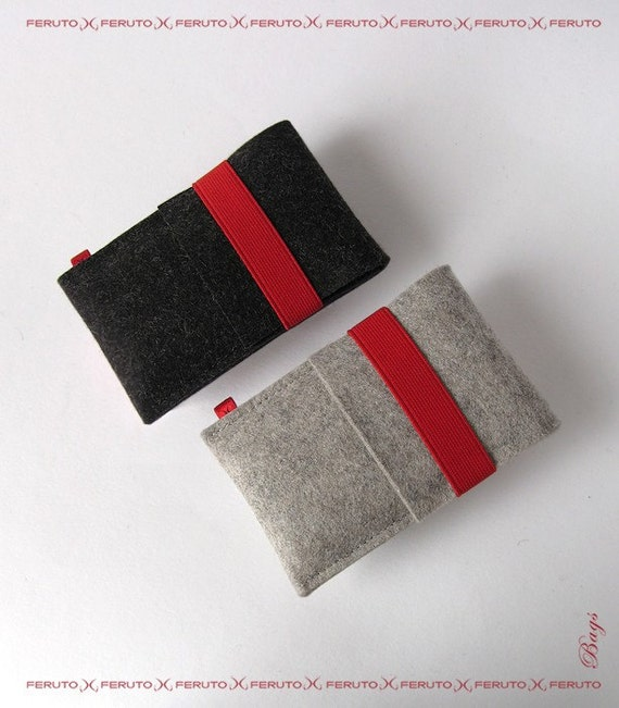 iPhone sleeve LITTLE WOLF german woolen felt case for your iPhone or iPod touch
