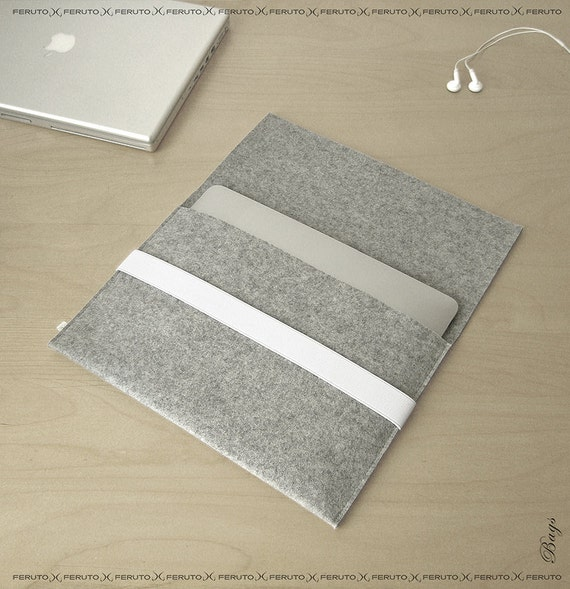 13 inch Macbook Air sleeve 11 macbook air case German felt sleeve SILVER