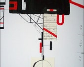 TRAPEZE . original abstract painting / ELSTON