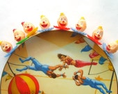 Vintage Circus Plate with Painting by Franklin Moody