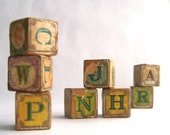 Chippy Wood Alphabet Blocks With Animal Pictures