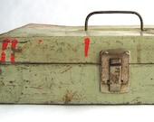 Distressed Metal Storage Box