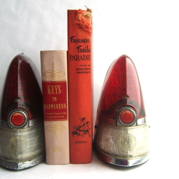 Pair of 1954 Cadillac Tail Lights or Repurposed Bookends