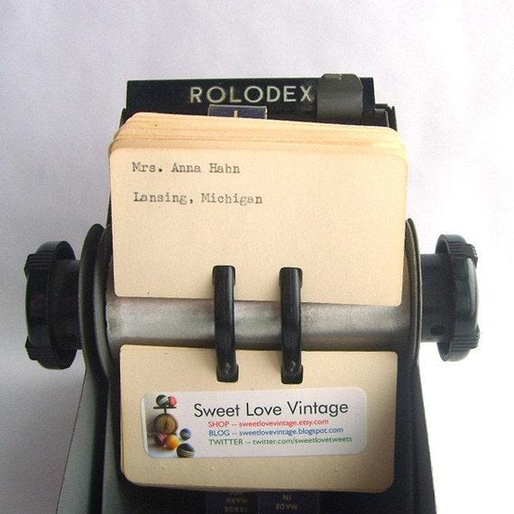 Mid Century Metal Rolodex File