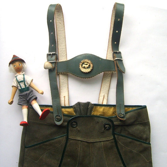 Vintage Children's Suede Leather Lederhosen