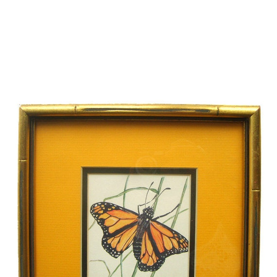 Framed Monarch Butterfly Art Print