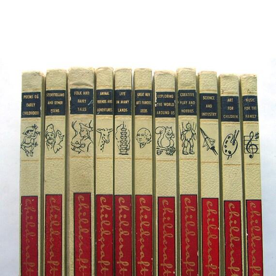 1961 Childcraft Encylopedia Book Set