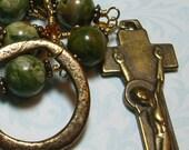Rhyolite Irish Penal Pocket Rosary