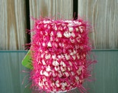 Upcycled Bottle Cozy - Hot Pink