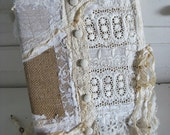 Rustic Romance Lace Journal - Timeless - Inspiration Diary - Perfection for scrapbook or Bible Journal Or Wedding Guest Book