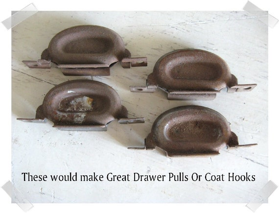 Vintage Hardware Drawer Pulls ...Rustic Vintage Petite Set of 4