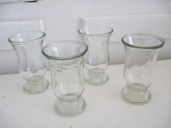 """Vintage Juice Glasses """"Set of 4"""" Rustic Farmhouse - Cottage Chic"""