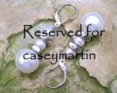 Reserved for caseymartin - Freshwater Pearly Hex Earrings