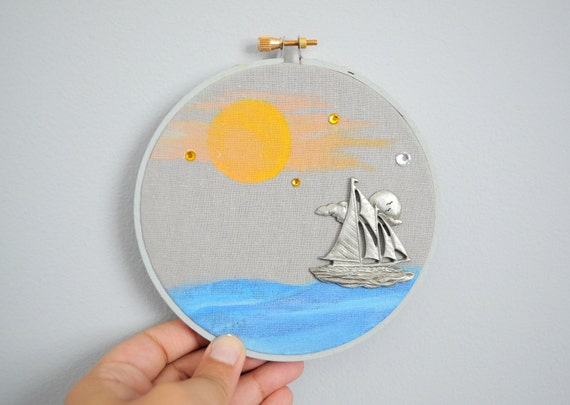 CLEARANCE - Sail Away - Embroidery Painting