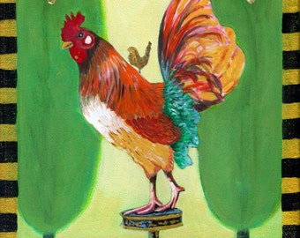 ANDRE ROOSTER FINE ART PRINT