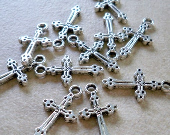 Small Silver Cross Charms for your show of faith