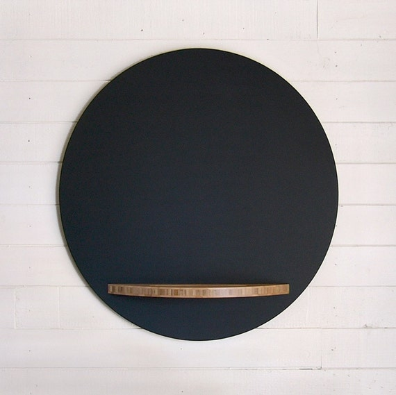 """Reserved For """"clenzor"""" - Round Chalkboard with Bamboo Tray, 23 Inches - Idaho Only"""