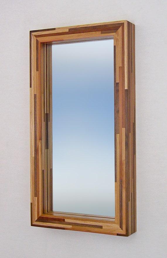 Reserved for shannondunphy1-Woodstrip Mirror, 14 X 26 Deep Box Frame, Dark