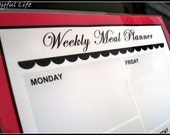 Weekly Menu Chart in Red