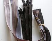Destash - Assorted zippers - Black & Grey
